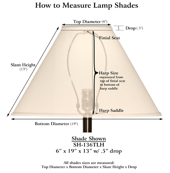 sh 126eb - How To Measure A Lamp Shade